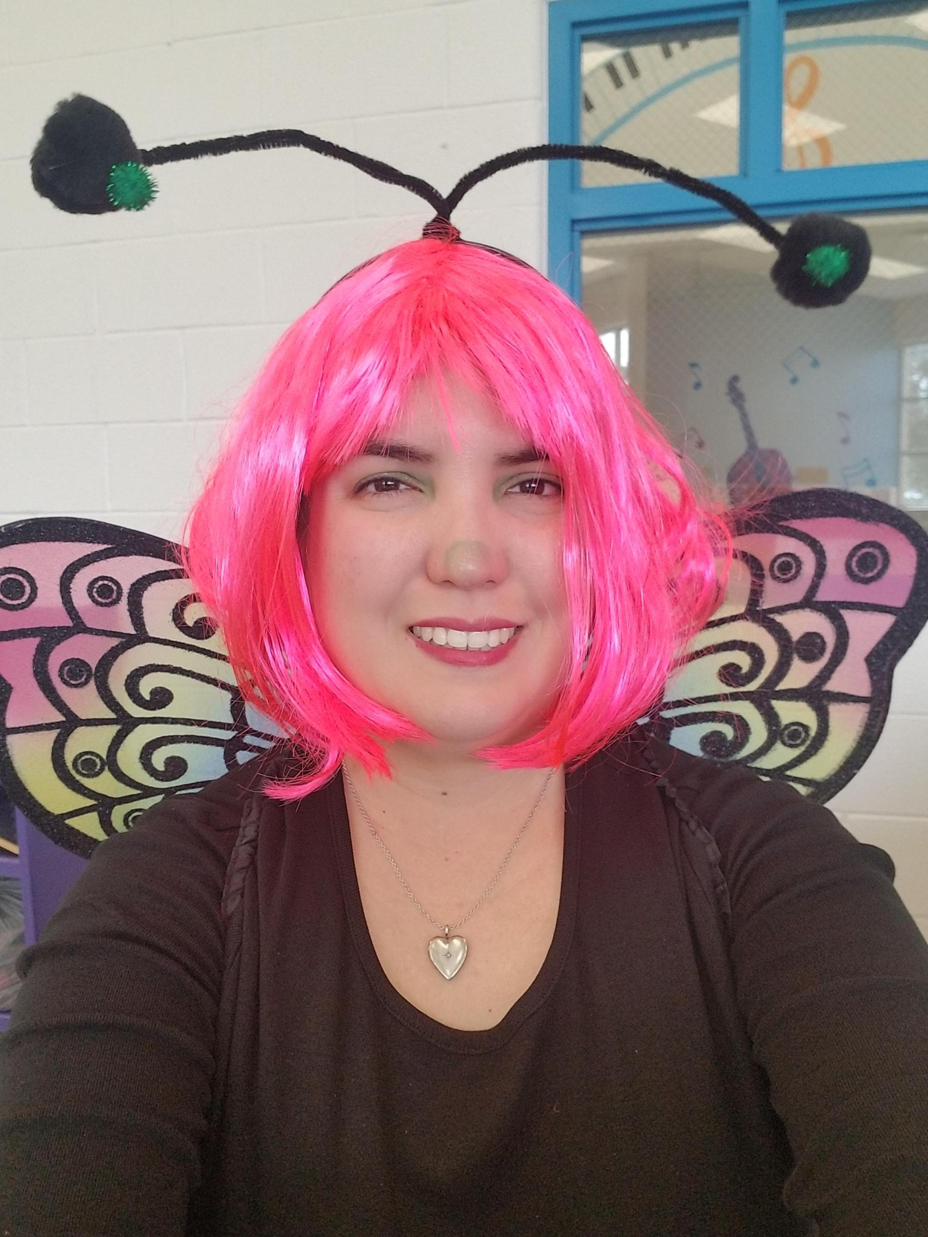 A mystical butterfly has been spotted at the STEAM Academy book fair.