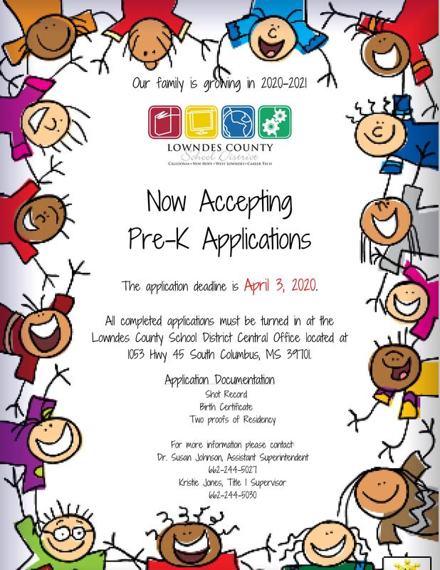 PreK application flyer