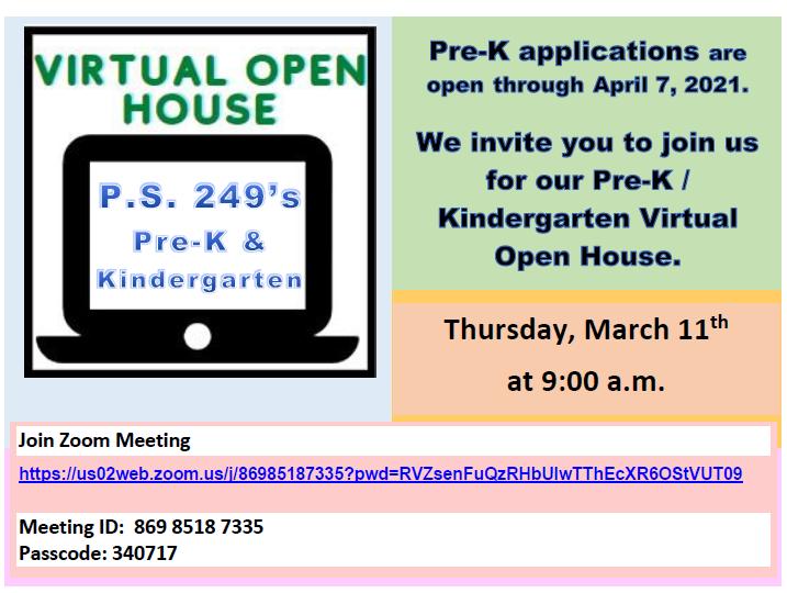 PreK & Kindergarten Virtual Orientation - March 11 @ 9 a.m. Thumbnail Image