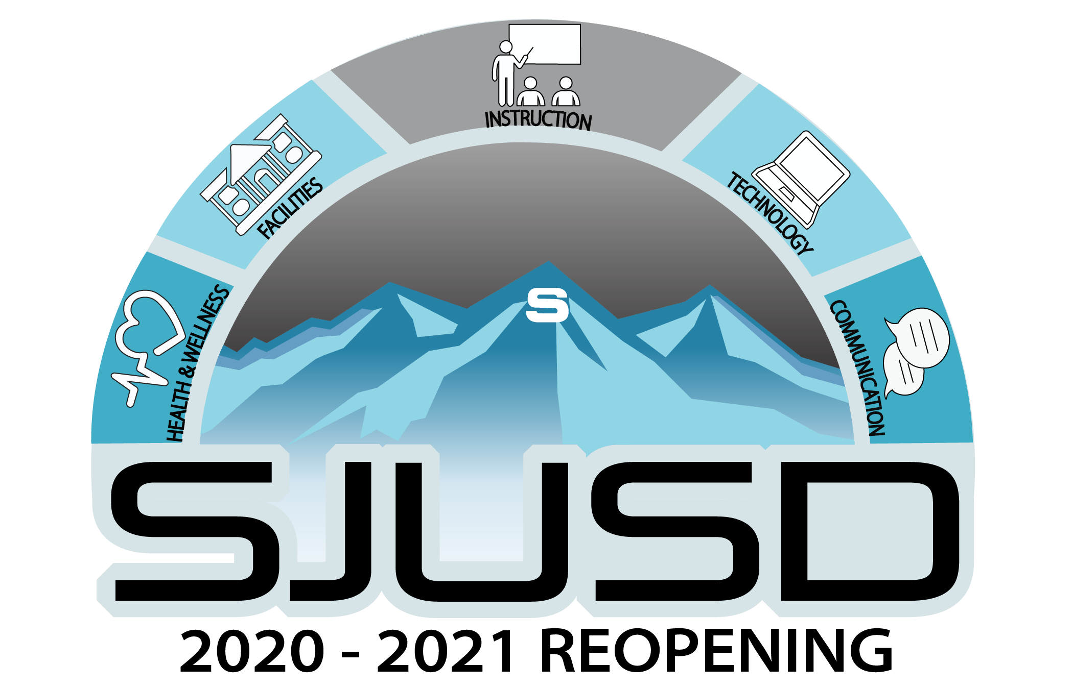 SJUSD Reopening logo for 2020-2021 school year