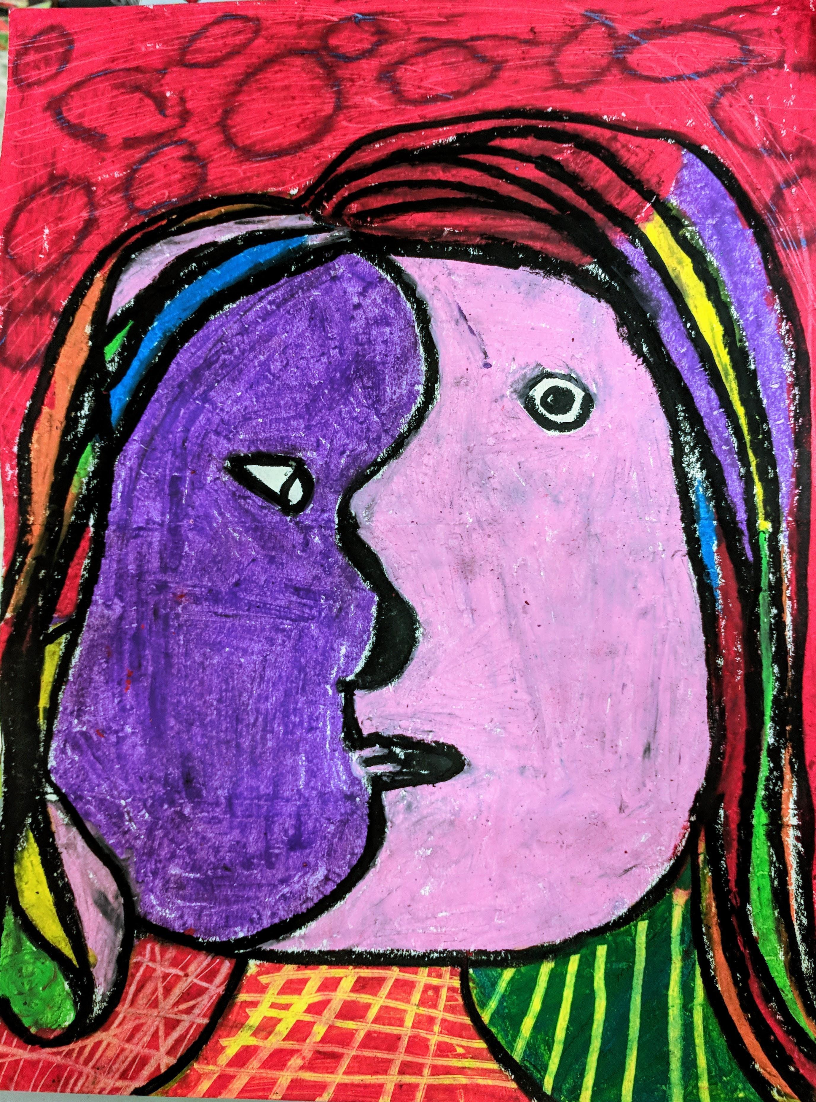 3rd Grade Picasso Self-Portrait