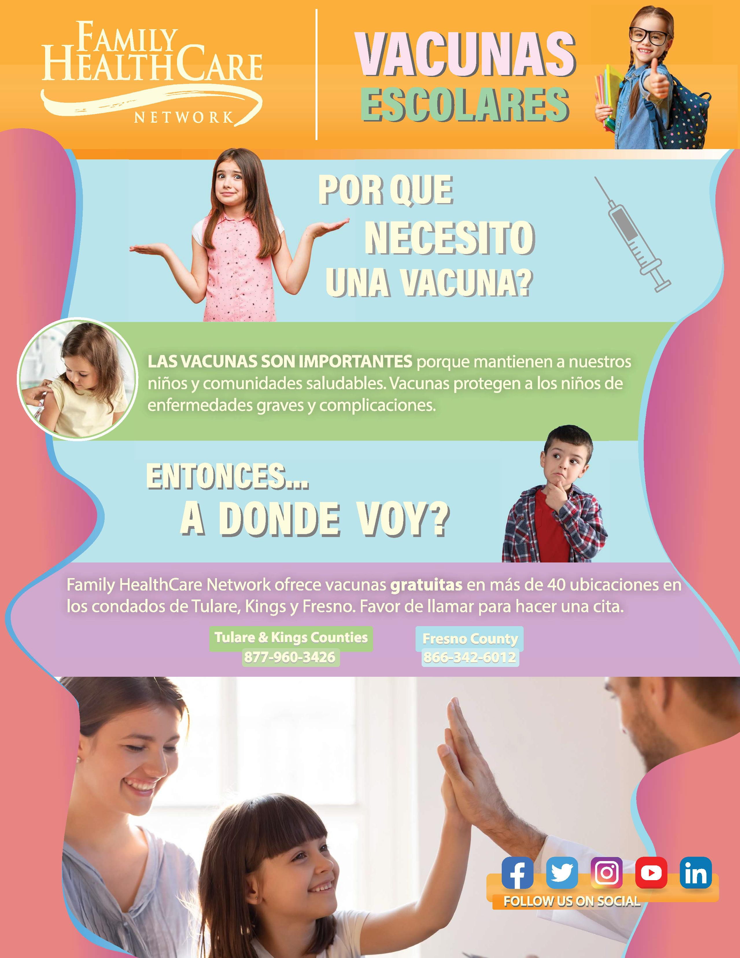 Vaccination flyer Spanish