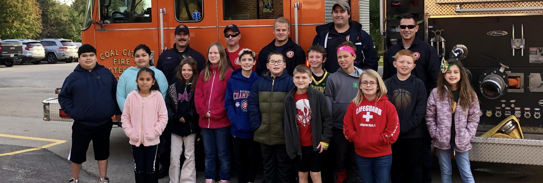 Group at the firehouse