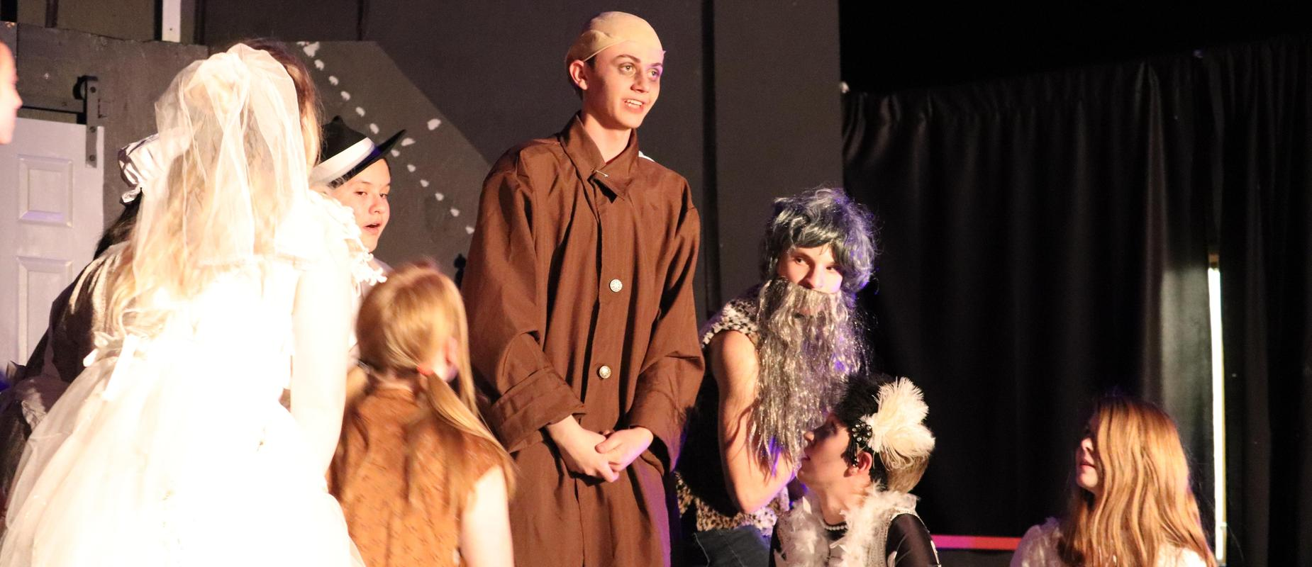 Jacob Lende and the Addams Family Drama Play