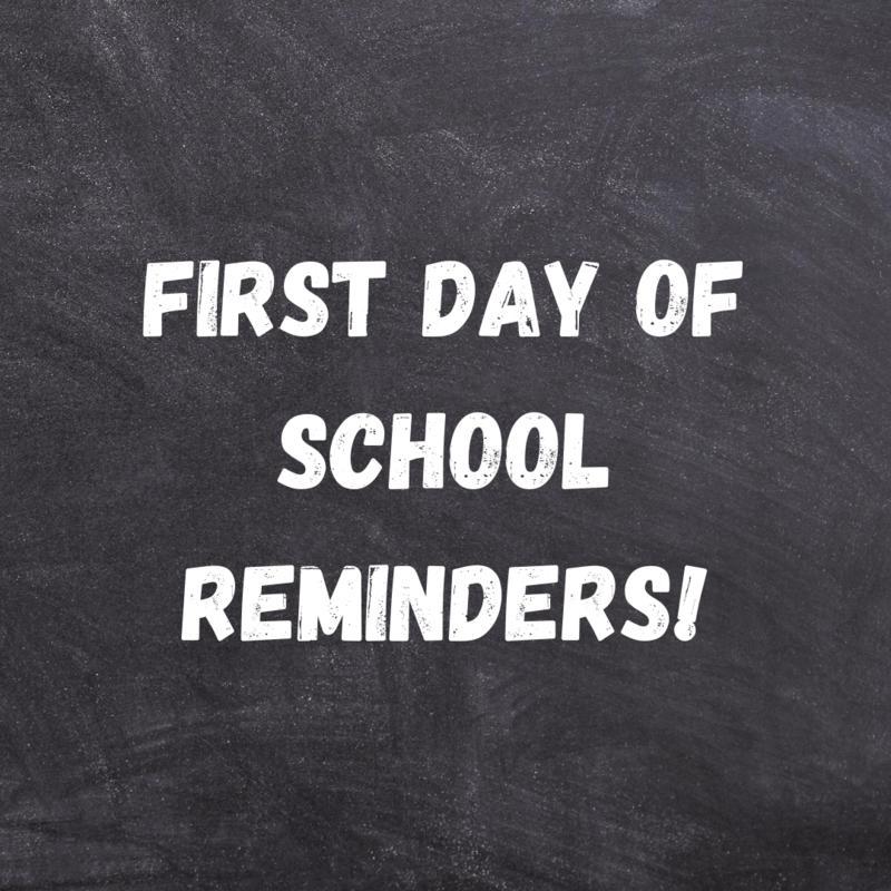 Important First Day Reminders From Dr. Egger! Featured Photo