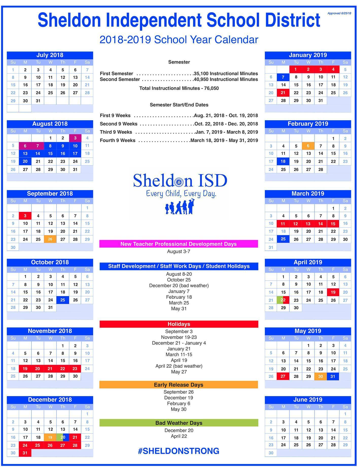 School Year Calendar thumbnail image