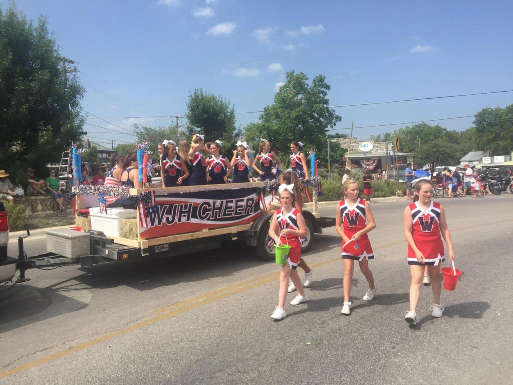 Danforth Cheerleaders in 4th of July Parade