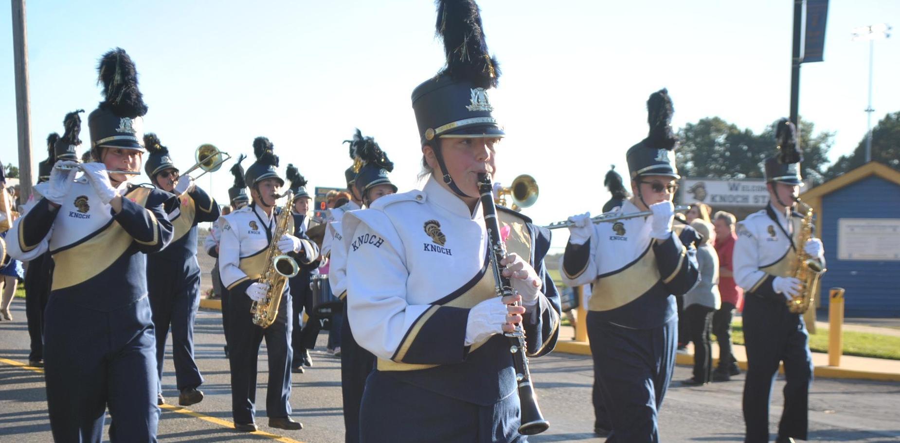 band members in parade