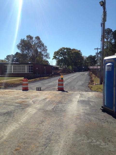 Road behind school