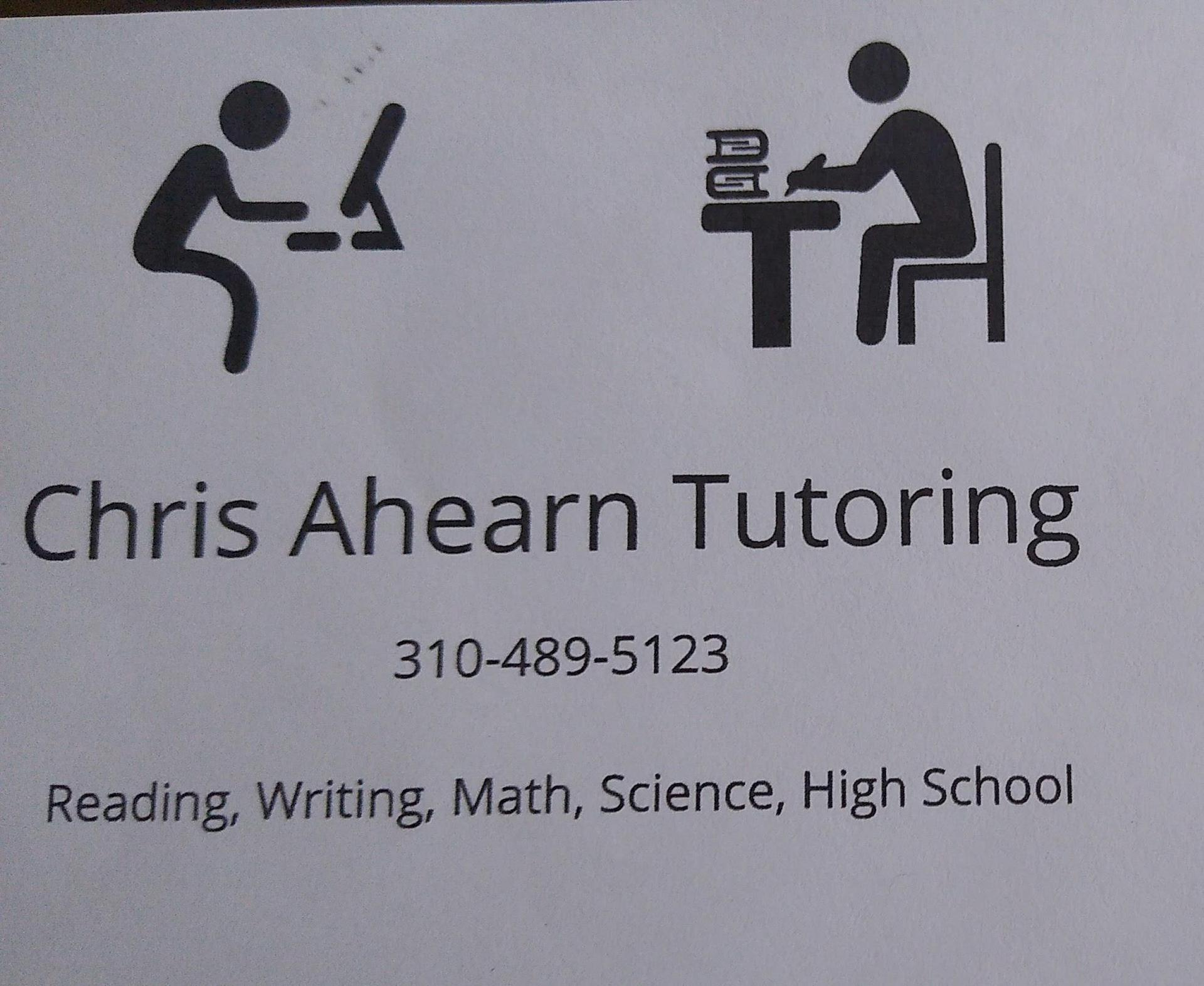 chris ahearn tutoring ad