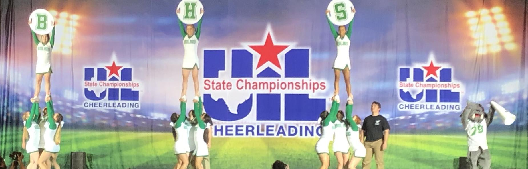 BHS Cheerleaders at state championship contest