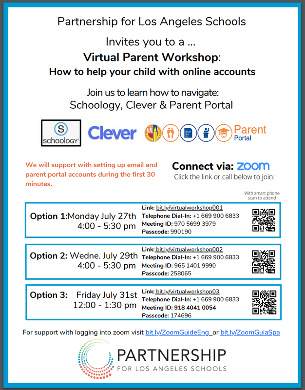 Virtual Parent Workshops / Talleres para Padres Virtuales Featured Photo