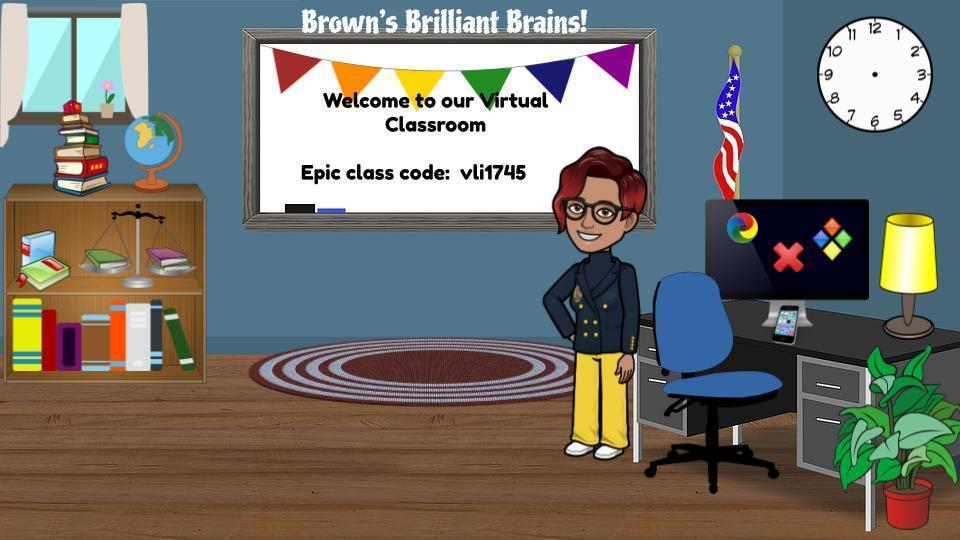 Mrs. Brown's Bitmoji Classroom
