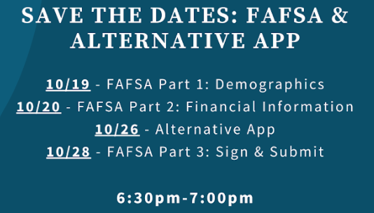Virtual FAFSA & Alternative App Workshops Featured Photo