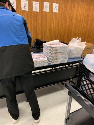 Domino's brought Pizza for the lunch ladies