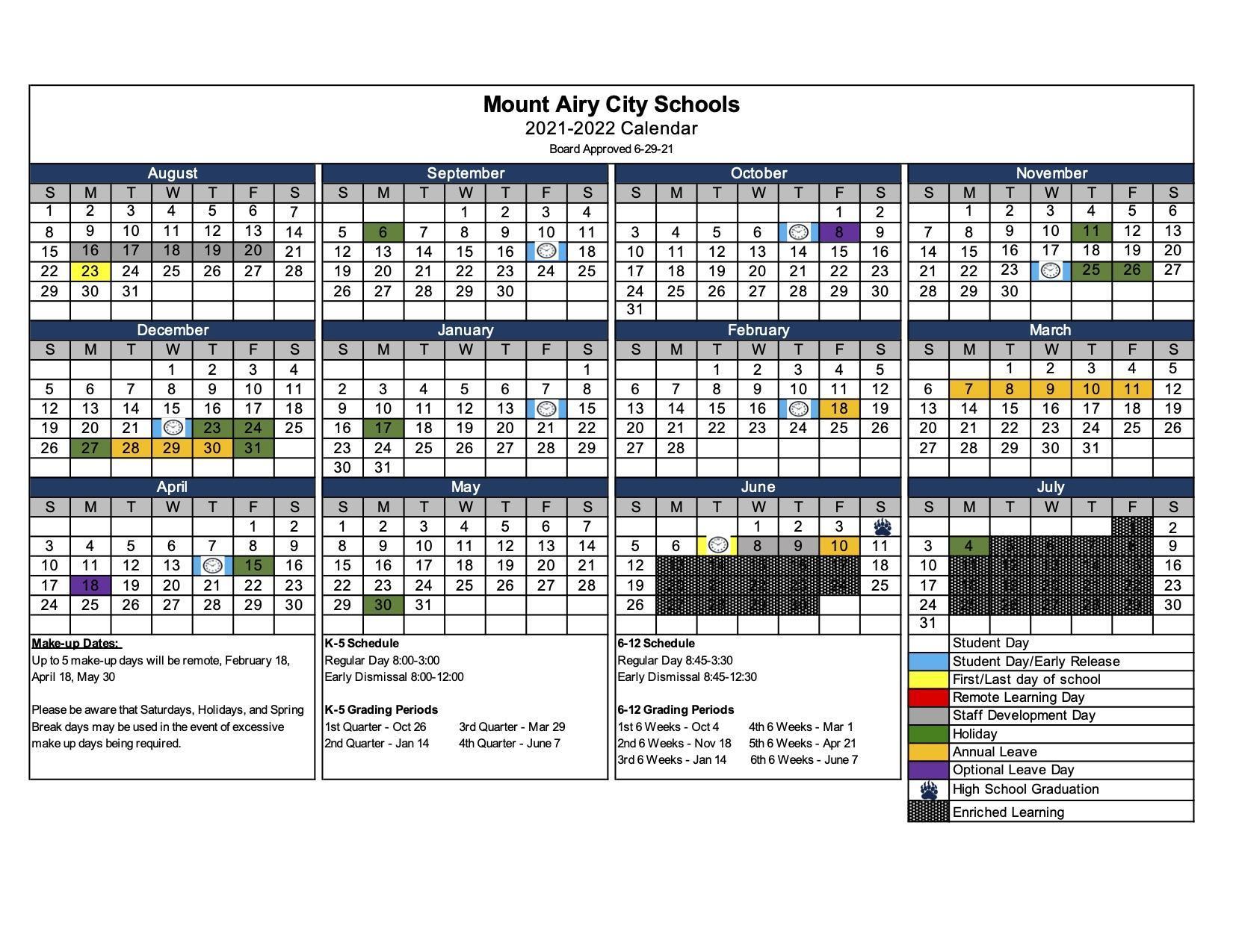 2021-2022 Calendar BOE Approved 6-29-21