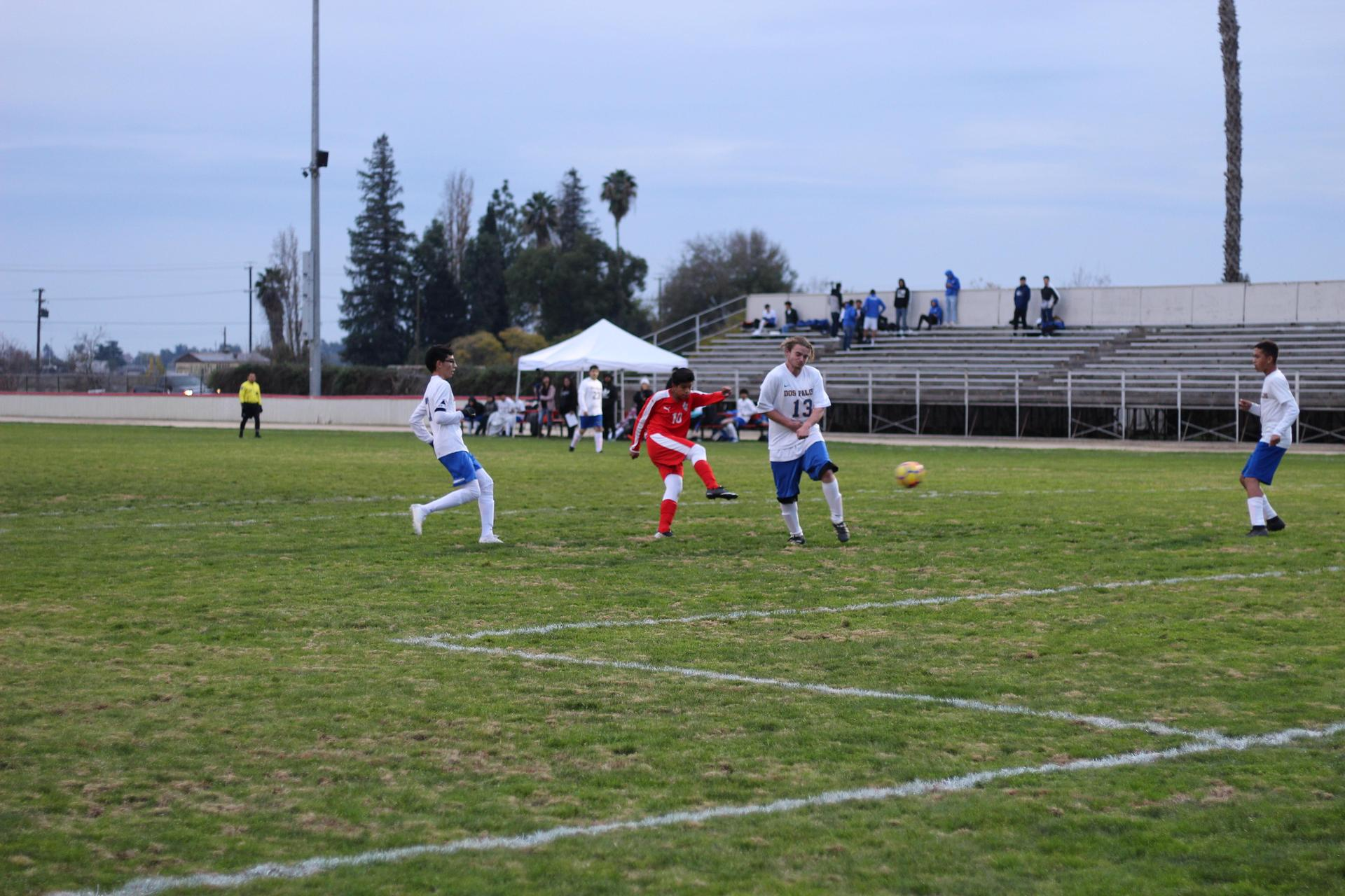 JV Boy's Soccer Against Dos Palos