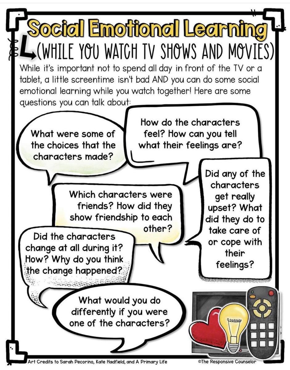Social emotional learning + TV