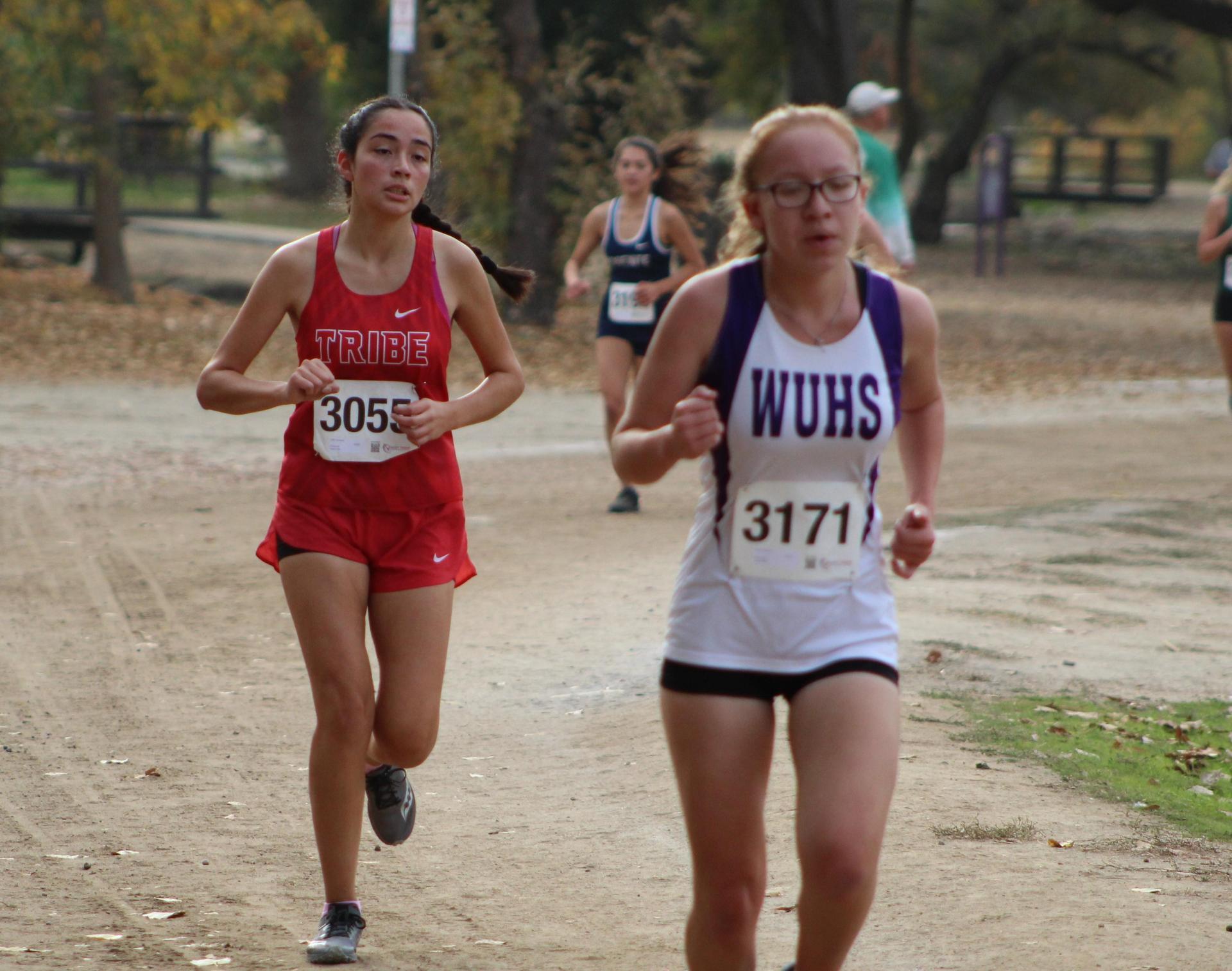 Lizeth Solorzano leading the race