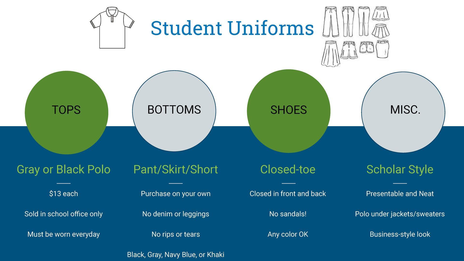 Student uniform details
