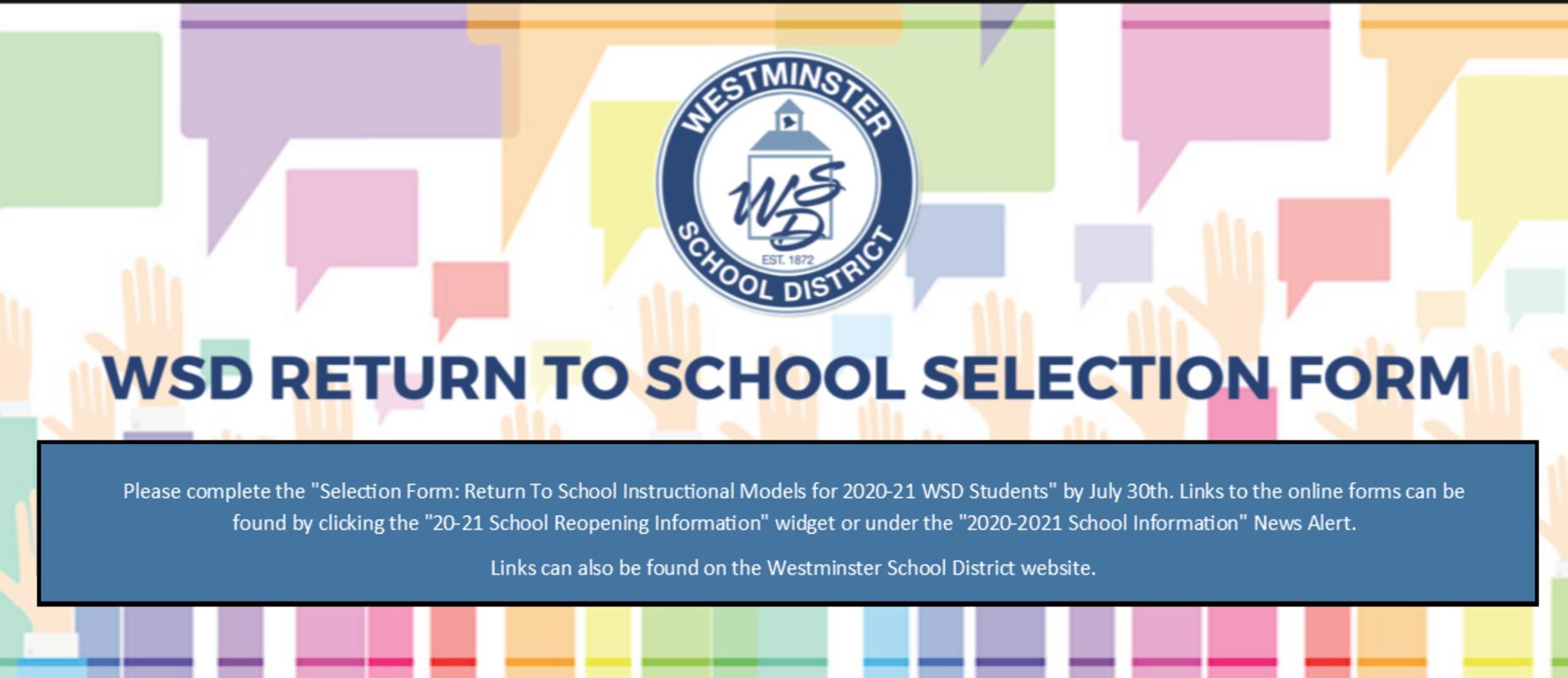 School Reopening Information