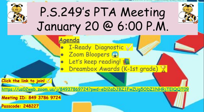 PTA Meeting - January 20, 2021 at 6 p.m. Thumbnail Image