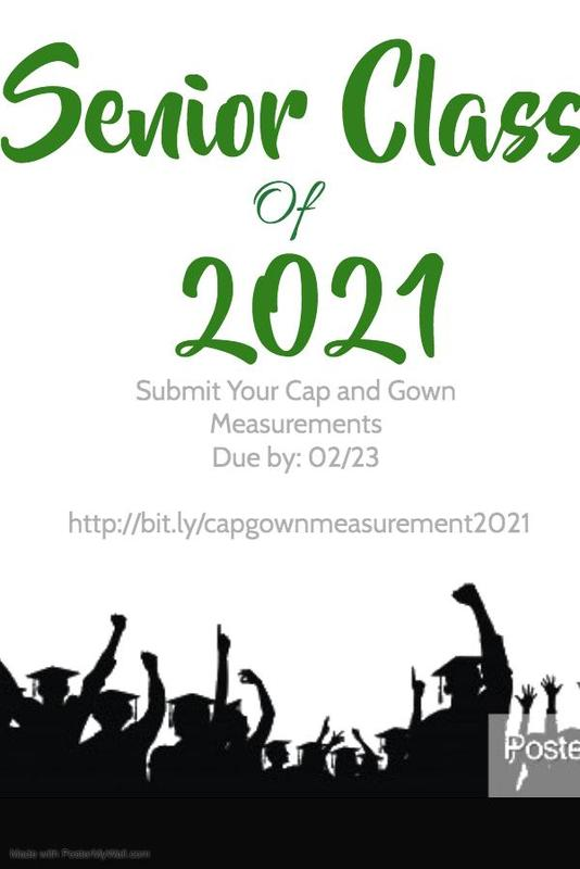Class of 2021 Cap & Gown Measurements Due Featured Photo