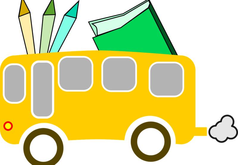 Cartoon Image of School Bus