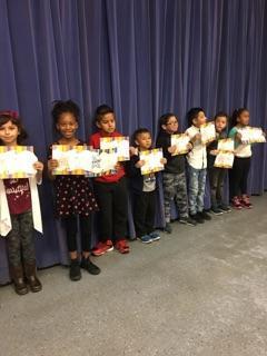 Mrs. Bramucci's 1st trimester award winners