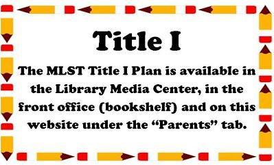 Title 1 Plan available in the media center.