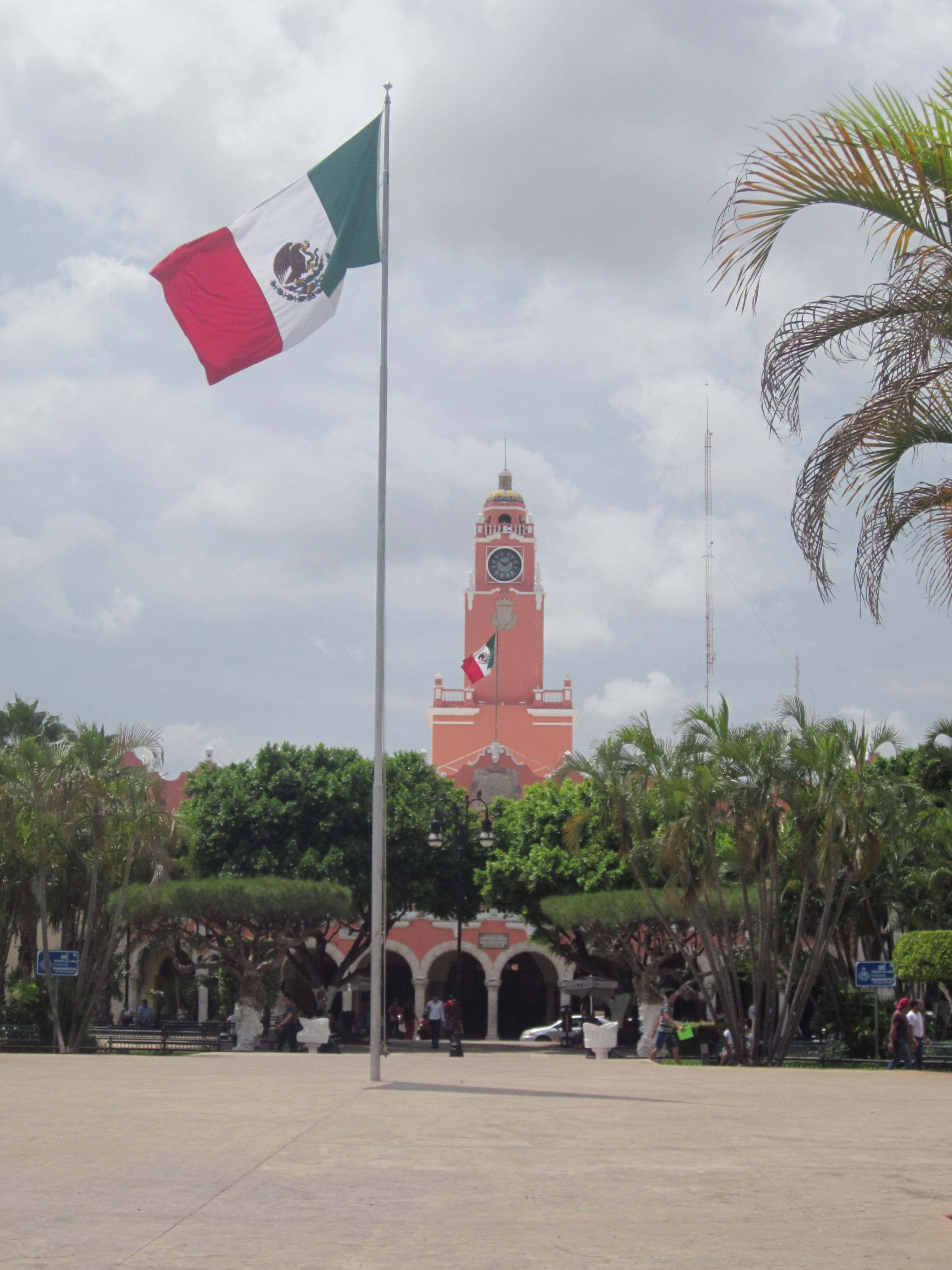 Una plaza en Merida, Mexico