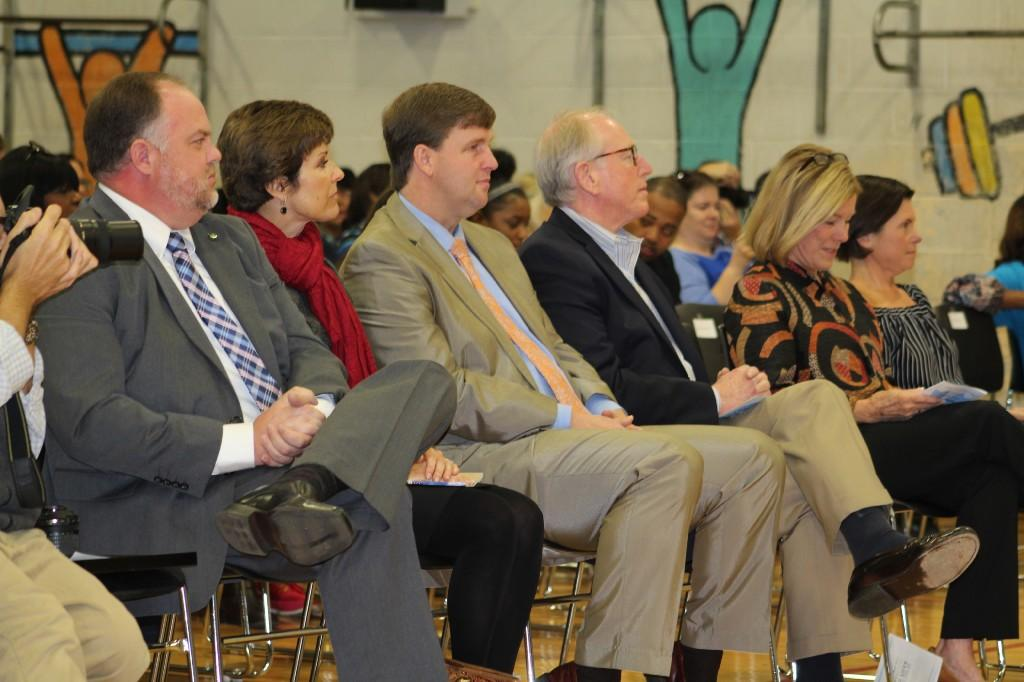 DCS Superintendent, Dr. Micheal Douglas attends the ceremony