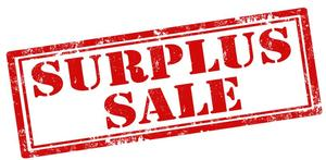 Surplus sale sign