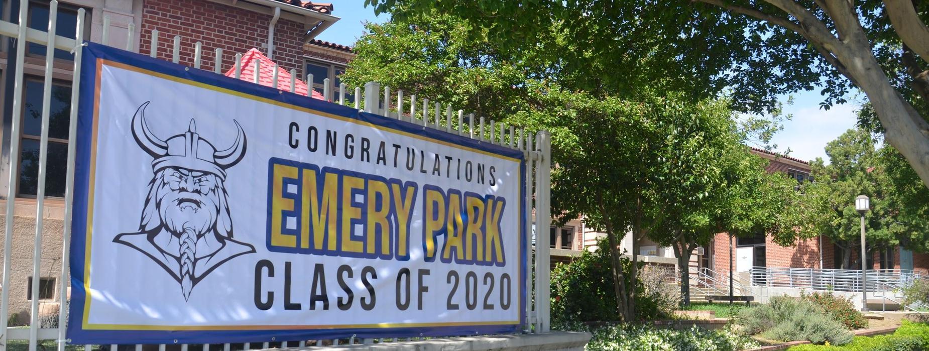 Emery Park Class of 2020 Banner