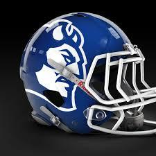 Blue Devils Football Helmet