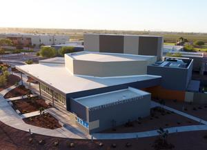 Combs Performing Arts Center arial view