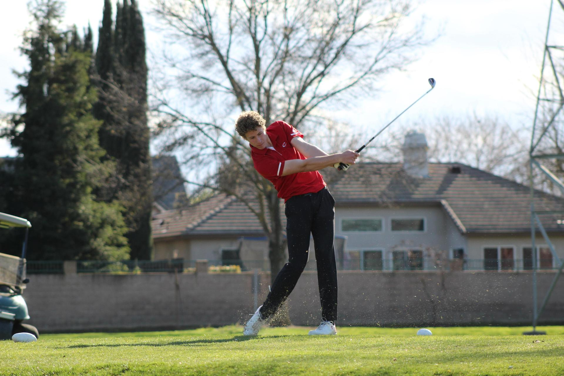 Golfers in action against Yosemite