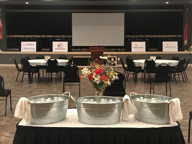 Apprenticeship Wilkes Ceremony Setup