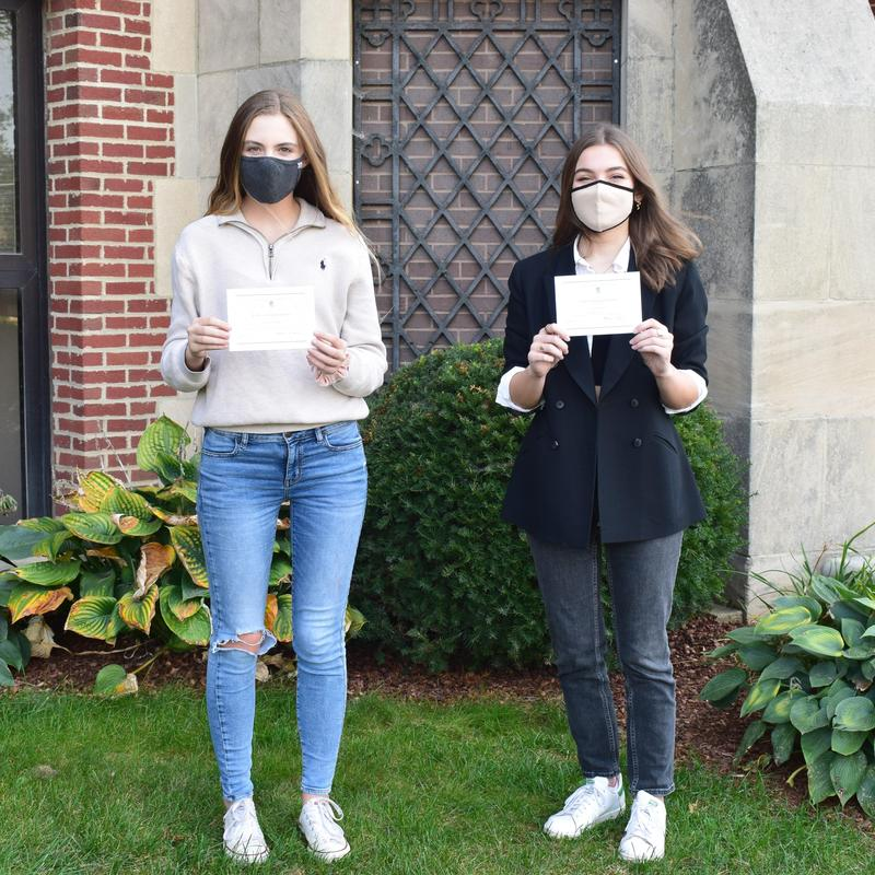 National Merit Scholarship Program Commended Students Tori Hartson and Abigail Way