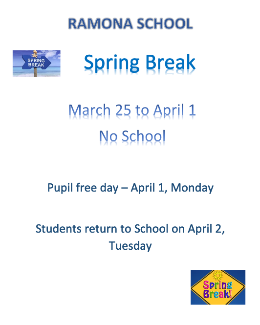 Spring Break and Pupil Free Day Featured Photo