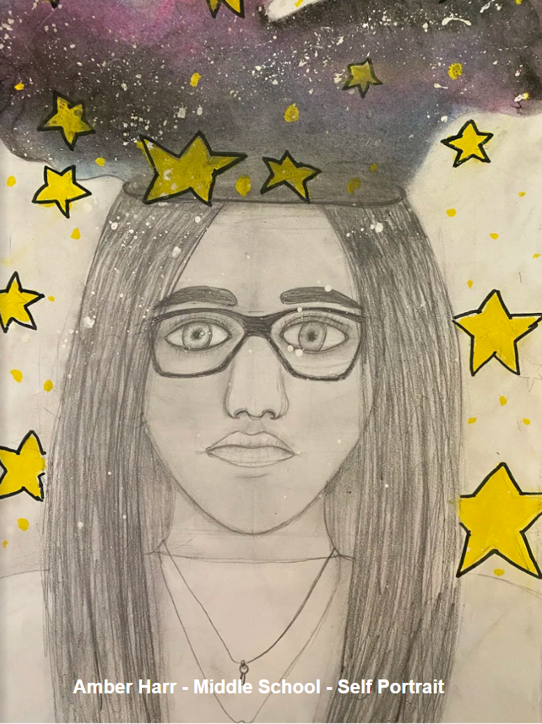 Amber Harr - Middle School - Self Portrait