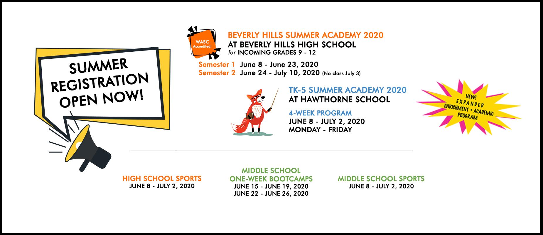 summer registration now open visit summer academy tab to register