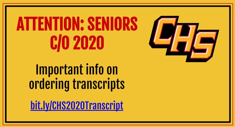 senior transcript info