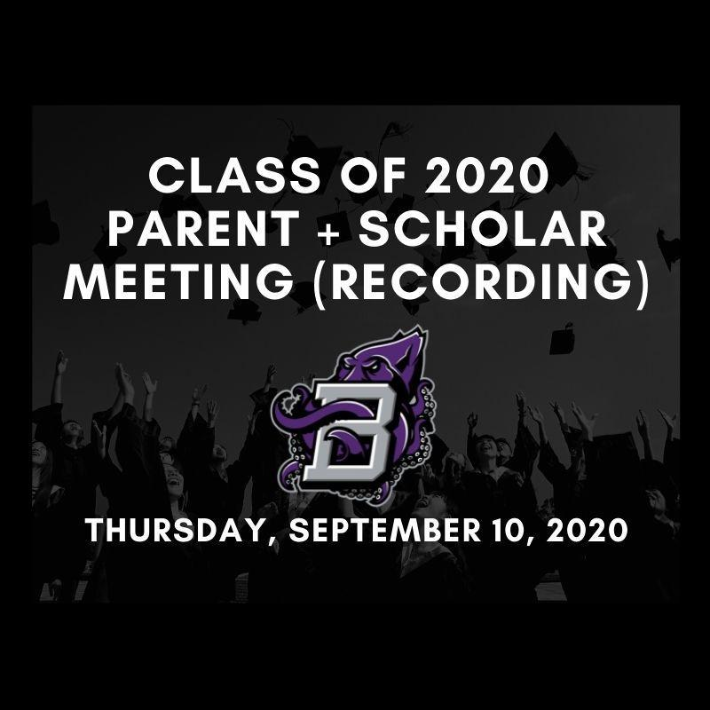 Senior Student + Parent Meeting (09/10/20 at 6pm) Thumbnail Image