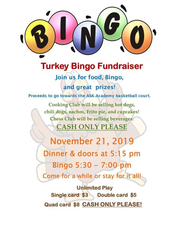 Turkey Bingo Flyer Information