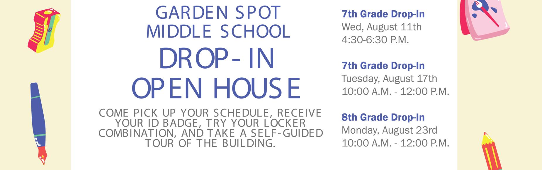 Garden Spot Middle School Open House Banner