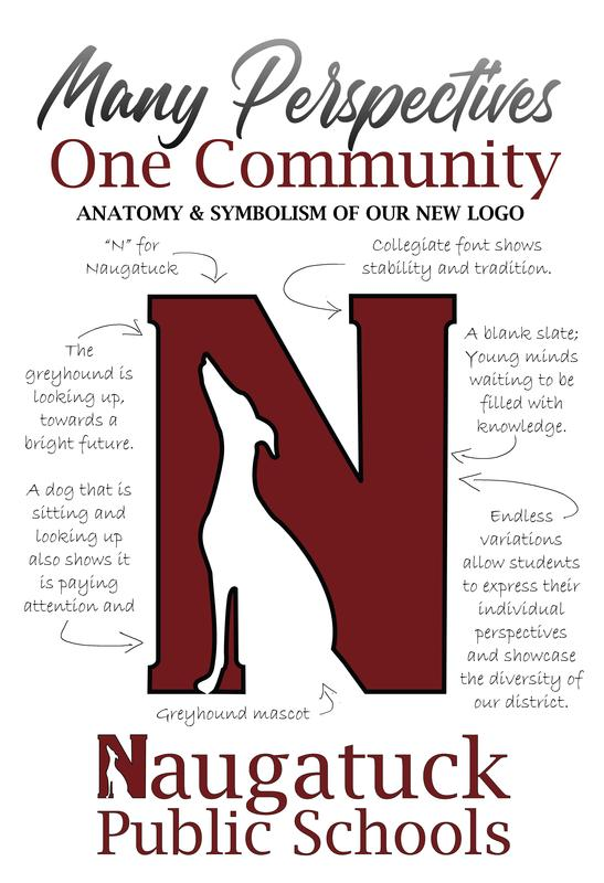 Many perspectives, one community. Naugatuck Public Schools logo.