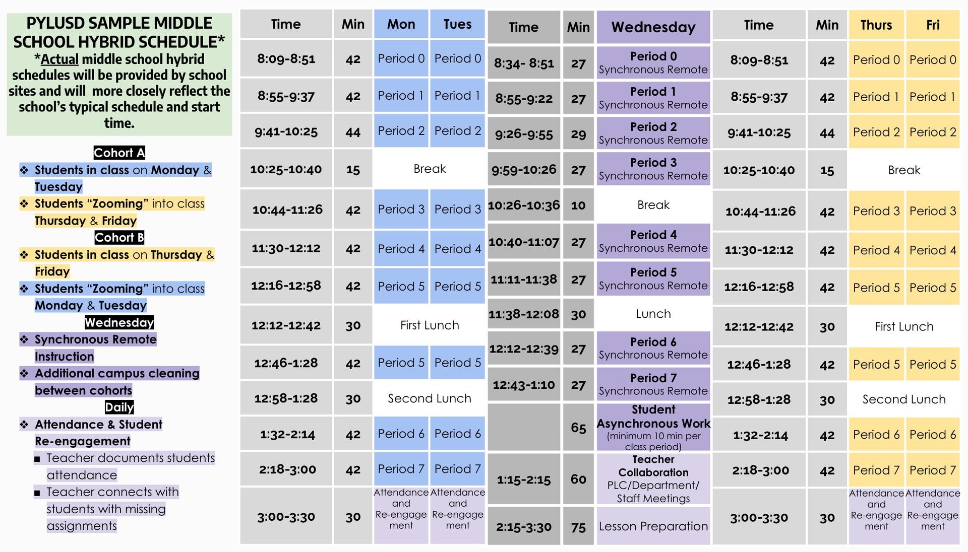 MS hybrid schedule.