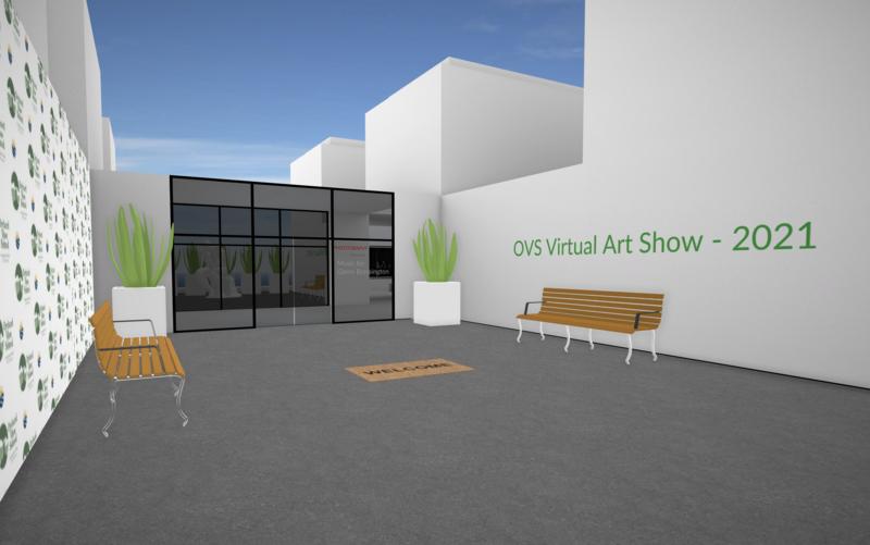 virtual art show entrance