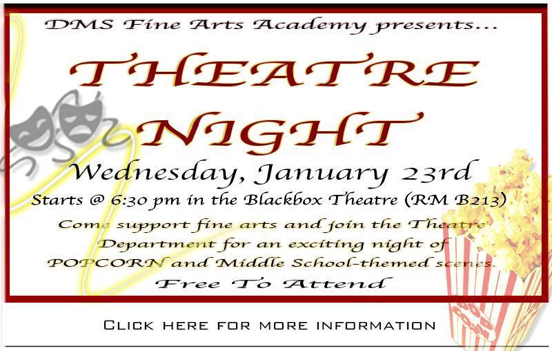 DMS Fine Arts Academy's THEATRE NIGHT Thumbnail Image